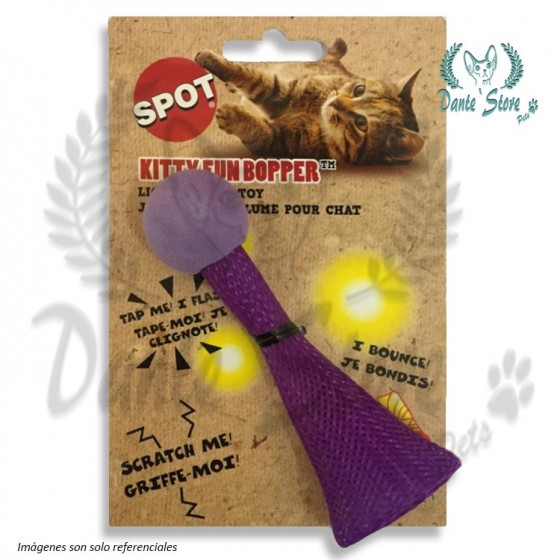 JUGUETE SPOT CAT KITTY FUN BOCINA DE LUZ