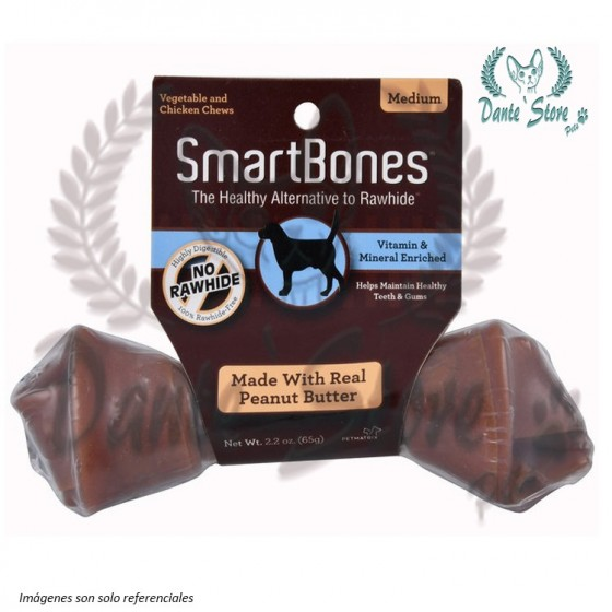 SMARTBONES PEANUT BUTTER SINGLE MEDIUM 65GR
