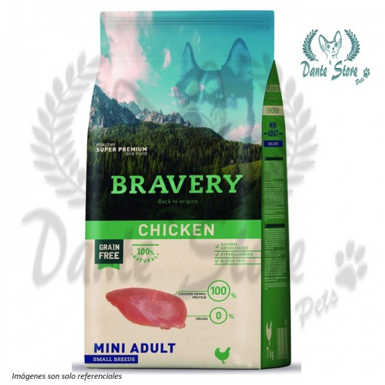 BRAVERY MINI ADULTO CHICKEN (POLLO) 2KG