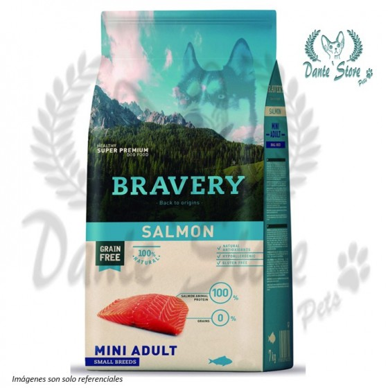 BRAVERY MINI ADULTO SABOR SALMON 2KG