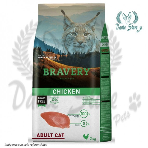 BRAVERY GATO ADULTO CHICKEN (POLLO) 2KG