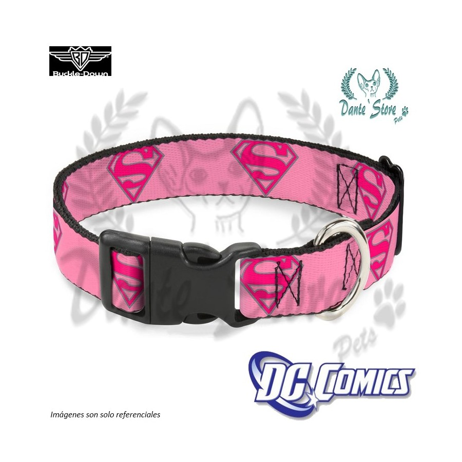 COLLAR SUPERGIRL ROSADO BUCKLE-DOWN