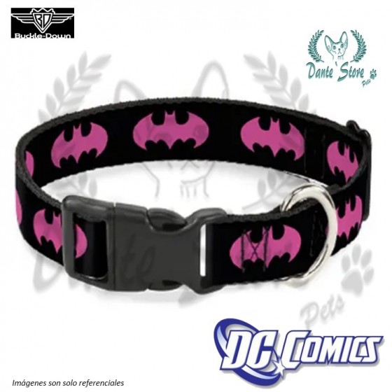 COLLAR BATMAN ROSADO BUCKLE-DOWN