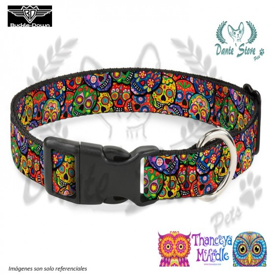 COLLAR CALAVERAS MULTICOLOR BUCKLE-DOWN