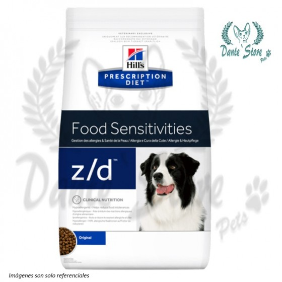 HILLS Z/D SKIN/FOOD SENSITIVITIES CANINO 3.63KG
