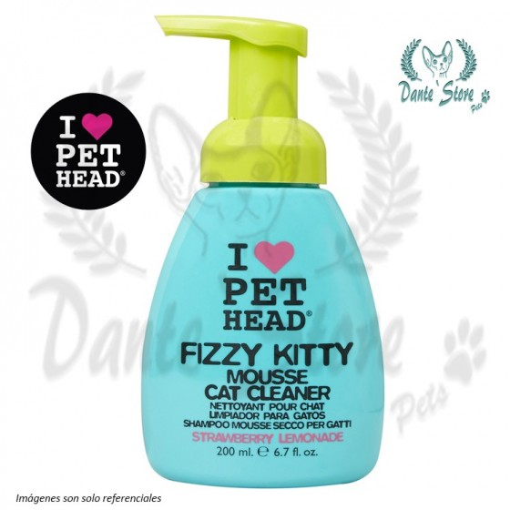 PET HEAD FIZZY KITTY MOUSSE CAT CLEANER 200ML