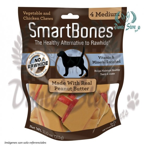 SMARTBONES PEANUT BUTTER 4 MEDIUM 311GR