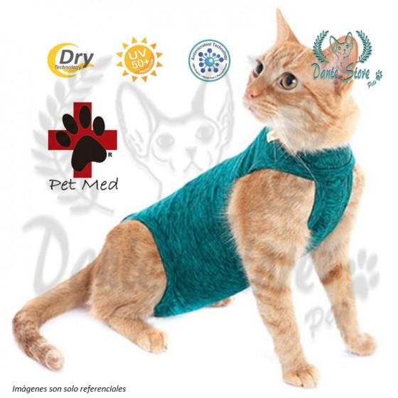 ROPA POST OPERATORIA PARA GATOS PET MED (Tallas 00 a 5)