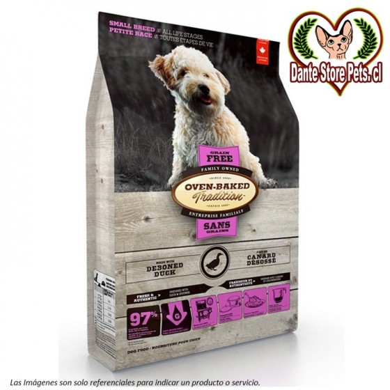 OVEN BAKED (OBT) GRAIN FREE DOG SMALL BREED DUCK 2.27KG