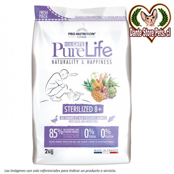 PURE LIFE FOR CATS STERILIZED 8+ 2KG