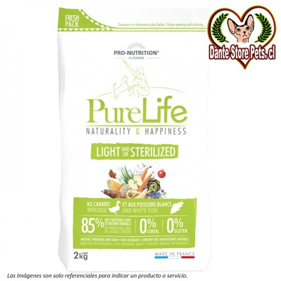 PURE LIFE LIGHT AND/OR STERILIZED 2KG